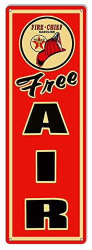 Texaco Free Air Gas Station Reproduction Garage Shop metal Sign 9x30 (Texaco Station)