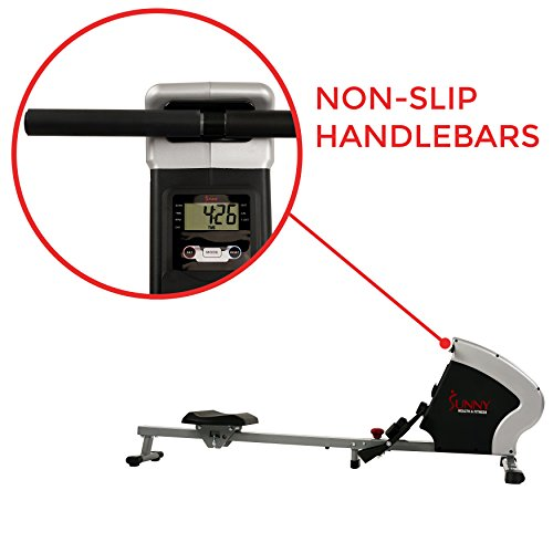 Sunny Health & Fitness Compact Folding Magnetic Rowing Machine Rower, LCD Monitor with Tablet Holder - Synergy Power Motion - SF-RW5801 by Sunny Health & Fitness (Image #3)