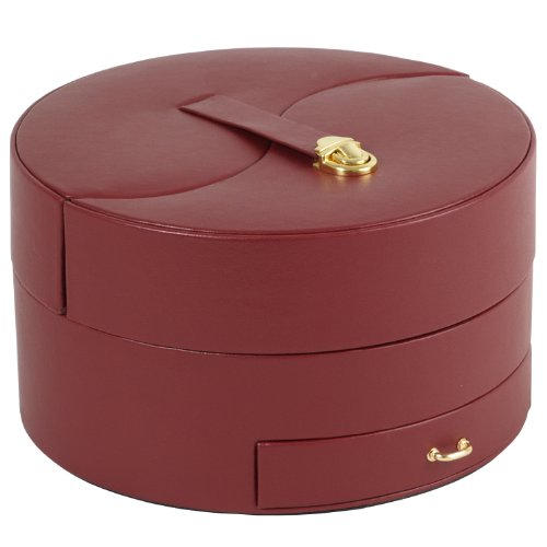 Wolf Designs 280704 Heritage Collection Large Ying Yang Jewelry Box, Red