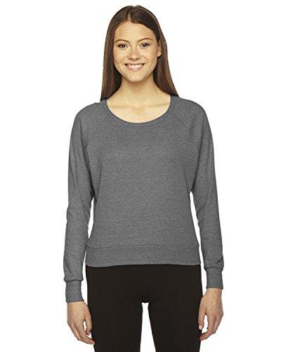 American Apparel Tri-Blend Light Weight Raglan Pullover - Athletic Grey - -