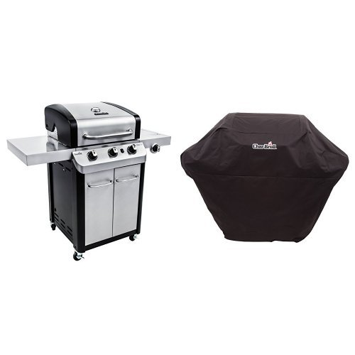 Char-Broil Signature 425 3-Burner Cabinet Gas Grill + Cover Best Selling