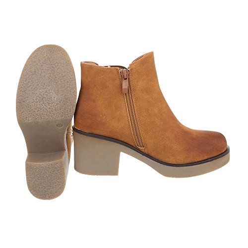 Zapatos Ancho Braun 801 Botines Classic Mujer Tacón Botas Para design 8 Ital rw4Hrx