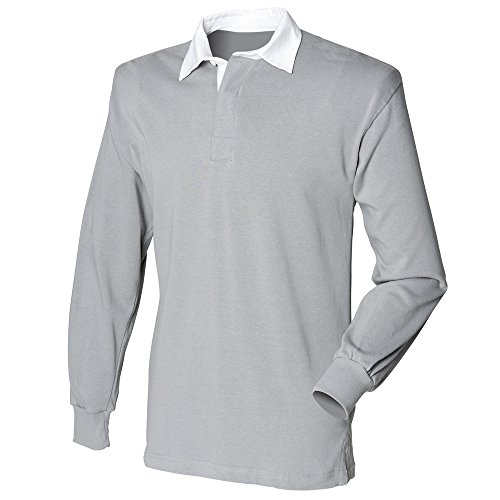 Front Row Long sleeve original rugby shirt Slate Grey L