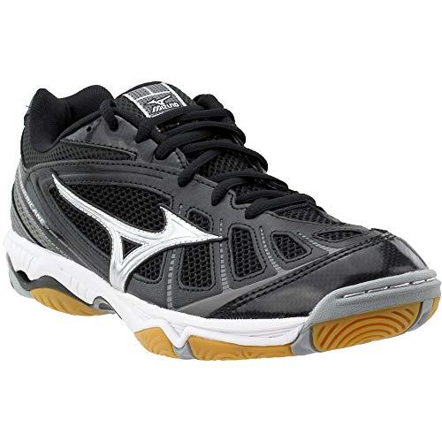 191ad6457e3b Mizuno Women's Wave Hurricane WOMS BK-SL Volleyball Shoe, Black/Silver, 10  B(M) US