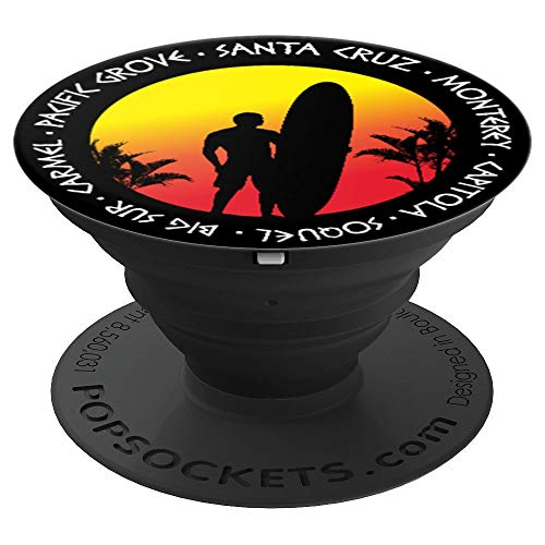 Santa Cruz Surfing Fans Surf Sunset Beach Vintage California - PopSockets Grip and Stand for Phones and Tablets