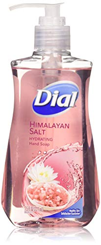 Dial Himalayan Pink Salt & Water Lily Hand Soap with Moisturizer 7.5 Oz. (Pack of 4) (Dial Himalayan Pink Salt Hand Soap Refill)
