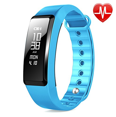 Beasyjoy Fitness Tracker with Heart Rate Monitor Smart Band Pedometer Wristband Waterproof Sport Bracelet Run or Walk Step Counter Tracking Exercise Distance Calorie for Android and iOS phone (Blue)
