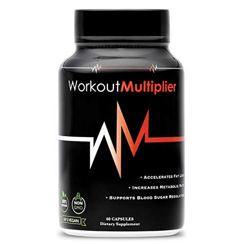 Workout Multiplier: All Natural Daily Supplement to Maximize Fitness Results | Burn Fat & Build Muscle | Vegan, Keto, Organic For Sale
