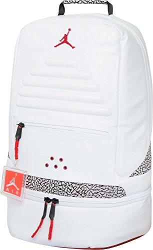 NIKE JORDAN RETRO 3 BACKPACK BAG WHITE-BLACK-CEMENT 9A0018-001 -