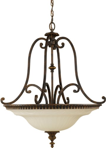 Sea Gull Lighting F2222/4WAL Drawing Room Large Four Light Pendant, Walnut ()