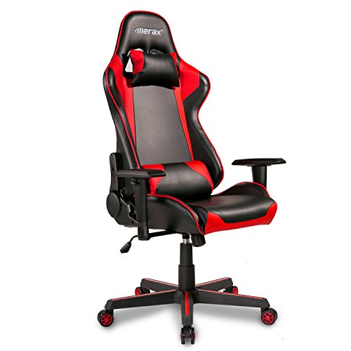 Merax Gaming Chair Computer Game Desk Chair Racing Style Comfy Office Chair Ergonomic Design for Teens/Adult/Kids