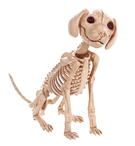 Crazy Bonez Sitting Skeleton Puppy Toy -