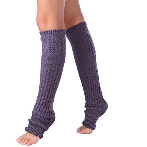 Long Knitted Leg Warmers Socks,Hemlock Womens Boot Cuffs Lace Patchwork Leggings Socks (Dark grey) (Cheap 80s Dresses)