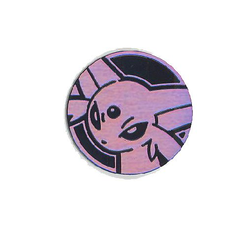 OFFICIAL POKEMON COIN - ESPEON - HOLO FOIL SHINY - TRADING CARD GAME FLIPPING (Official Game Coin)