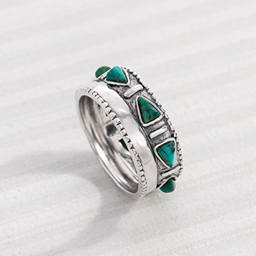 Silpada 'Trailblazer' Compressed Turquoise and Sterling Silver Ring, Size 11 Photo #4