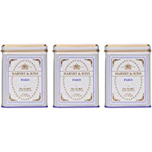 Harney & Sons Paris Black Tea Sachet Collection, All Natural - Classic Tin of 20 Sachets, 1.4 Ounce - 3-Pack