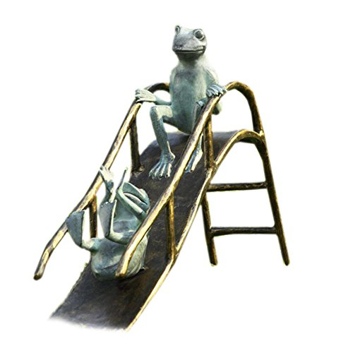 SPI Home Aluminum Sliding Frogs Garden Sculpture