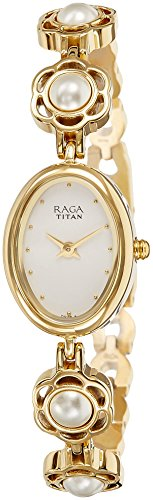 Titan Raga Aurora Analog White Dial Women #39;s Watch NM2511YM08 / NL2511YM08