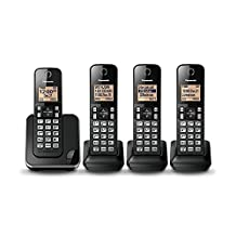 Panasonic KXTGC384B Expandable Digital Phone with 4 Cordless Handsets