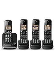 Panasonic KXTGC384B Expandable Digital Phone with 4 Cordless Handsets