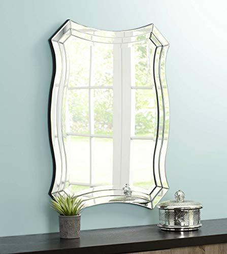 Possini Euro Design Idell Scalloped Side 23 1 2 x 32 Wall Mirror