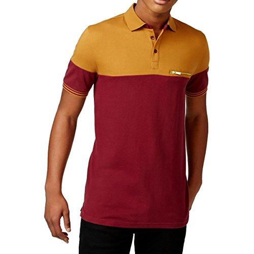 sean-john-mens-two-tone-short-sleeves-polo-shirt-red-l
