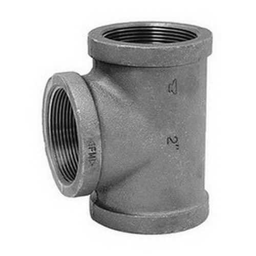 1 x 1 x 3/4 in. 150# Black Malleable Iron Reducer Tee