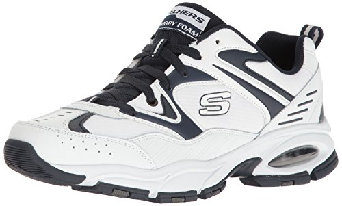 Price comparison product image Skechers Sport Men's Vigor Air Oxford, White/Navy, 14 M US