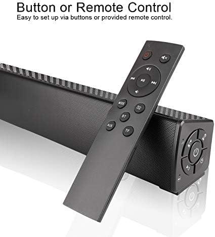Bluetooth Speaker, Bluetooth 5.0 Sound Bar, Wireless Sound Bar, Stereo USB Powered 17-Inch Soundbar for PC Tablets Desktop Cellphone Computer[RCA, AUX](Black) 41xFn2hLqBL