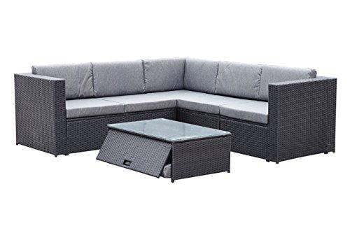 (YEEFY Outdoor Patio Furniture Sets PE Rattan Sectional Sofa Clearance 7 PC Cushions & Modern Glass Coffee Table)