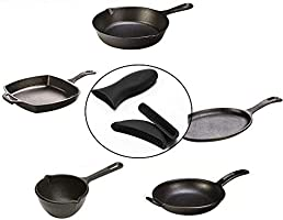 3pcs Silicone Hot Handle Holder For Cast Iron Skillet Pans Frying Pan /& Griddle