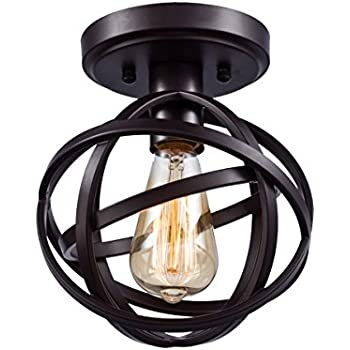 Dazhuan antique 1 light metal globe chandelier with cage flush dazhuan antique 1 light metal globe chandelier with cage flush mount ceiling lamp light fixture aloadofball Gallery
