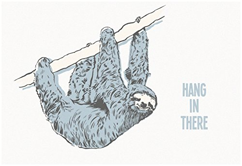 Hang In There- Horizontal Sloth Poster 19 X 13In -