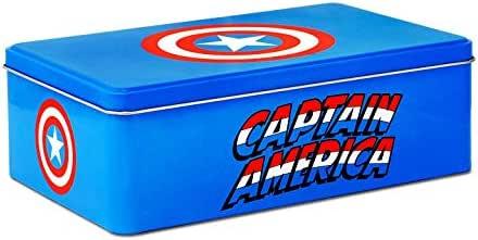 Logoshirt Caja Capitán América - Escudo - Lata de Metal Marvel Comics - Captain America - Shield - Coloreado - Diseño Original con Licencia: Amazon.es: Hogar
