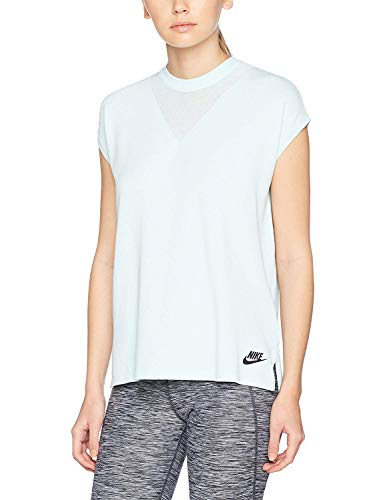 Nike Women's Tech Knit Sport Casual Tank Top-Light Blue-Small