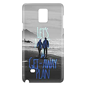 Loud Universe Galaxy Note 4 Lets Make A Get Away Plan Print 3D Wrap Around Case - Gray/Black