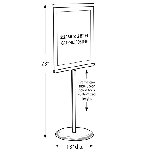New Retail Standing Metal Easel Frame Floor Sign Holder 22''W x 28''H by Easel Frame (Image #2)