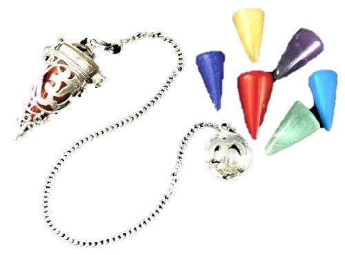 Silver Tone Pendulum - Chakra Cage Pendulum 2