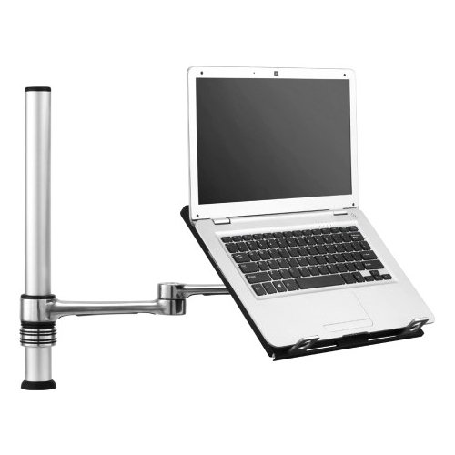 Atdec VF-AT-NP Notebook Desk Mount (for notebooks up to 18″ and 17.6lbs) fully adjustable with two mounting options, Brushed Aluminum