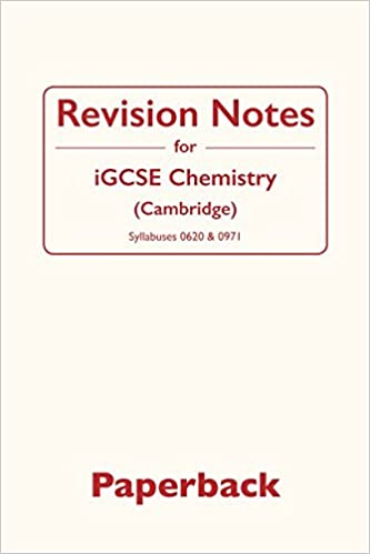 Revision Notes for iGCSE Chemistry: Cambridge: Amazon co uk: Dr
