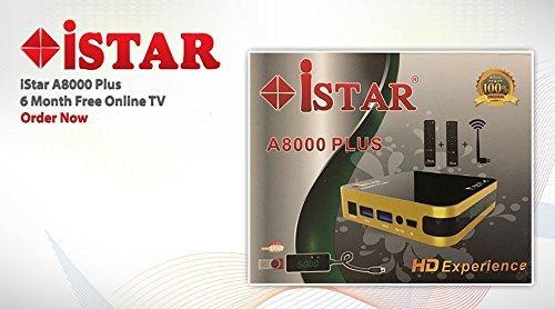 IStar A8000 Plus Full Hd Free Arabic African Turkish Kurdish German French Indian Persian Spanish Polish Dutch Siberia Somali