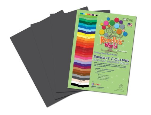 Roselle Bright Colors Suphite Construction Paper, 9 x 12 Inches, (Slate Gray 50 Sheet)