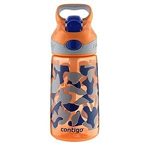 Contigo 14oz Autospout Striker Kids Water Bottle, Nectarine Camouflage Graphic