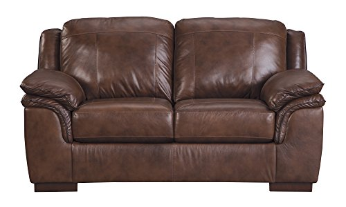 Canyon Sofa Sets - Ashley Furniture Signature Design - Islebrook Contemporary Leather Upholstered Loveseat - Canyon