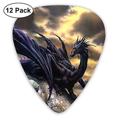 HFX Guitar Picks Fantasy Dragon Guitar Pick Plectrums for Electric Guitar, Acoustic Guitar, Mandolin, and Bass - 12 Pack]()