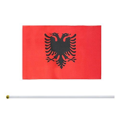 Kind Girl Hand Held Albania Flag Albanians