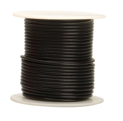 Coleman Cable 18-100-11 Primary Wire, 18-Gauge 100-Feet Bulk Spool, Black
