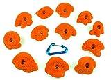 12 Medium Dripstone Jugs | Climbing Holds | Orange