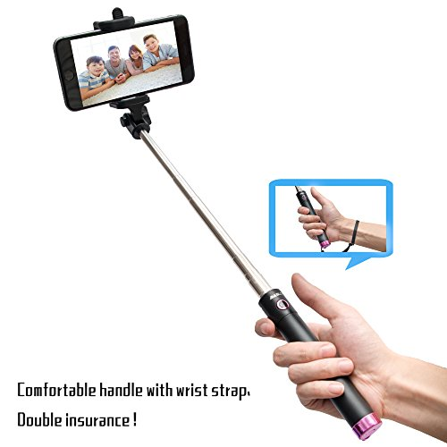 iphone accessories selfie stick baslo compact foldable selfie poles extendable wireless. Black Bedroom Furniture Sets. Home Design Ideas