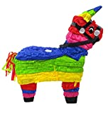 Mexican Rainbow Donkey Pinata - Decoration Centerpiece, Photo Prop and Party Game for Fiestas